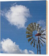 Temecula Wine Country Windmill Wood Print