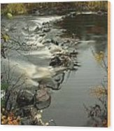 Temperance River Campground View Wood Print