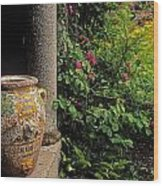 Temple And Garden Urn, The Wild Garden Wood Print