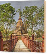 Temple Bridge Wood Print