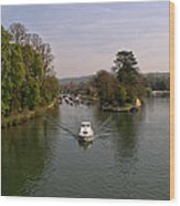 Temple Lock On The River Thames Wood Print