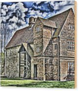 Temple Manor Wood Print
