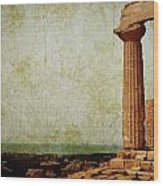 Temple Of Juno Wood Print