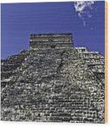 Temple Of Kukulkan Three Wood Print