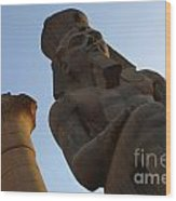 Temple Of Luxor Ramses Ll Wood Print