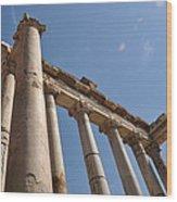 Temple Of Saturn Wood Print