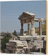 Temple Ruin - Ephesus Wood Print