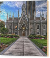 Temple Square Assembly Hall Wood Print