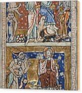 Temptations Of Christ Wood Print