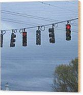 Ten Traffic Lights  Wood Print
