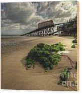 Tenby Lifeboat Ramps Wood Print
