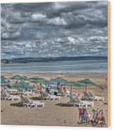 Tenby North Beach 3 Wood Print