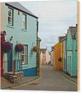 Tenby Village Wood Print