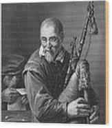 Teniers: The Bagpiper Wood Print