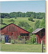 Tennessee Barn 4 Wood Print