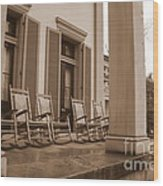 Tennessee Plantation Porch Wood Print