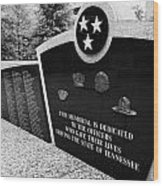 tennessee state police officer memorial war memorial plaza Nashville Tennessee USA Wood Print