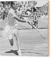 Tennis Champion Jack Kramer, Playing Wood Print