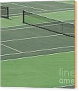 Tennis Court Wood Print