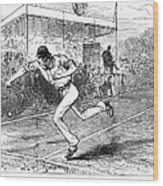Tennis: Wimbledon, 1880 Wood Print