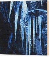 Tentacles Of Ice Wood Print