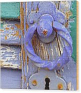 Terrace Door Wood Print