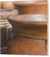 Terracotta Mexican Pottery Wood Print