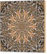 Terracotta Stone Medallion 1 Wood Print