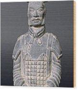 Terracotta Warrior Soldier Wood Print
