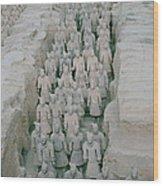 Terracotta Warriors In Xian In China Wood Print