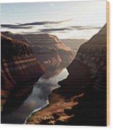 Terragen Render Of Trail Canyon Wood Print
