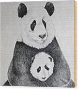 Terris Pandas Wood Print