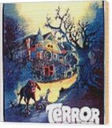 Terror House Aka Club Dead Terror At Wood Print by Everett