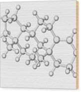 Testosterone Hormone Molecule Wood Print