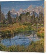 Teton Fall Wood Print