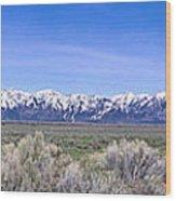 Teton National Park Panarama Wood Print
