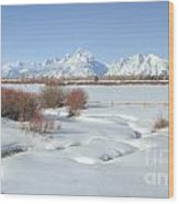 Teton Snow Wood Print