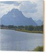 Teton Splendour Wood Print