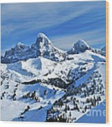 Teton Winter Wood Print