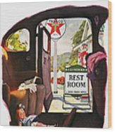 Texaco Advertisement, 1938 Wood Print
