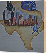 Texas Bound 3 Wood Print