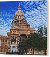 Texas Capitol Building Wood Print