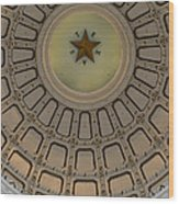 Texas Capitol Star Wood Print