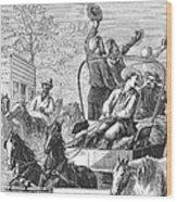 Texas Cattle Trail, 1874 Wood Print