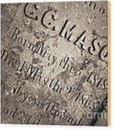 Tcm - C.c. Mason Grave Wood Print