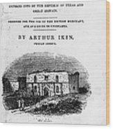 Texas: Guidebook, 1841 Wood Print