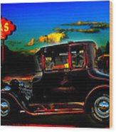 Texas Hot Rod Wood Print