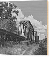 Texas Railroad Bridge Wood Print