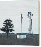 Texas Ranch View Wood Print