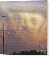Texas Sized Cloud Wood Print